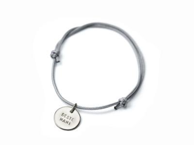 Anhänger-Bracelet Namens- Geburts- Spruchband Indivdualisierbares Armband