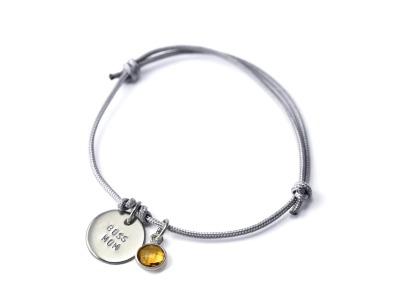 Anhänger-Bracelet Gemstone Namens- Geburts- Spruchband Indivdualisierbares