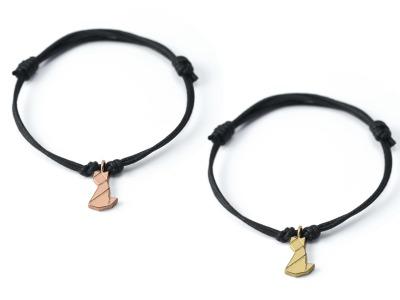 MIEZE Tangram Kette oder Armband Silber