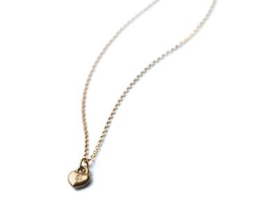 SWEETHEART GOLDY Individualisierte Halskette Herzanhänger mit