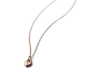 SWEETHEART GOLDY ROSÉ Individualisierte Halskette Herzanhänger