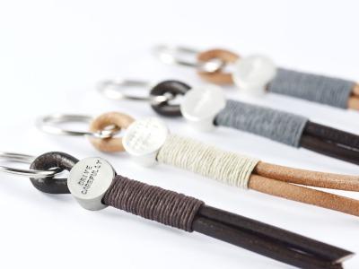 HEKTOR Schlüsselanhänger Silber Indivdualisierbarer hochwertiger Schlüsselanhänger