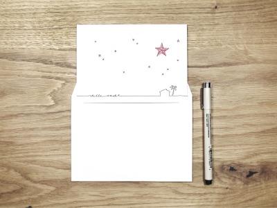 stille nacht - Christmas Card - Klappkarte mit Umschlag