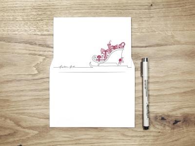 frohes fest - Christmas Card - Klappkarte mit Umschlag