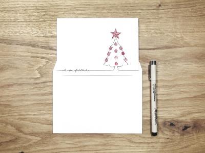 oh du froehliche - Christmas Card - Klappkarte mit Umschlag