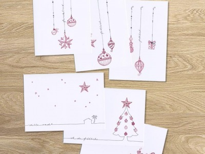 tingletangle Christmas Card 6er Set - 6 Klappkarten mit Umschlaegen