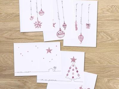 tingletangle Christmas Card 6er Set - 6 Klappkarten mit Umschlaegen