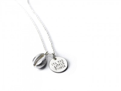 Mottokette KAURI SHELL Individualisierte Halskette mit