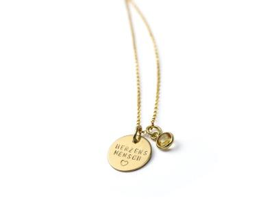 GOLDY GEMSTONE Individualisierte Halskette in Karat
