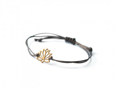 LOTUS Bracelet 925er Silver yellow gold-plated