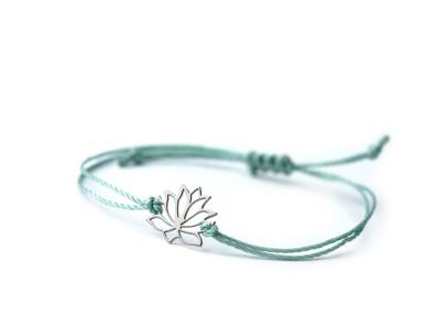 LOTUS Bracelet 925er Silver Symbol für