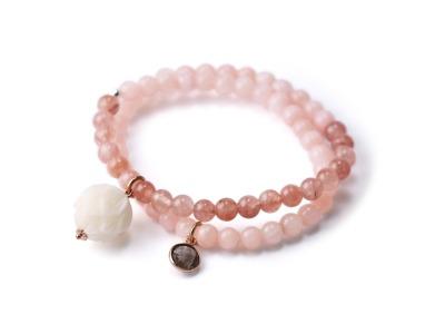 Mala Bracelet LOTUS HARMONY Zweireihiges elastisches