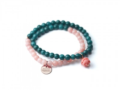 Mala Bracelet BETTER TOGETHER Zweireihiges elastisches