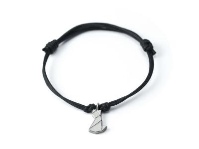 MIEZE - Tangram Kette oder Armband, 935 Silber, auf Wunsch vergoldet - Symbol für stärkende Kraft und Sensibilität und manchmal für die ganz grosse Freiheit...