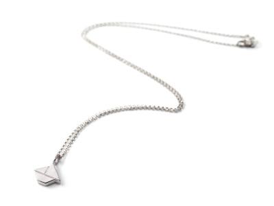Tangram-Kette SCHIFFCHEN Silber Schiffchenanhänger und Kette