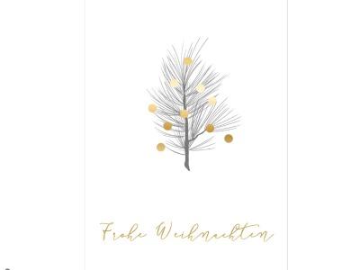 Kiefernzweig - Christmas Card - Klappkarte mit Umschlag