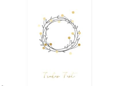 Kraenzchen - Christmas Card - Klappkarte mit Umschlag