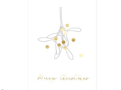 Mistelzweig - Christmas Card - Klappkarte mit Umschlag