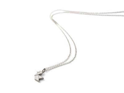 Tangram-Kette VÖGELCHEN Silber Vögelchenanhänger und Kette