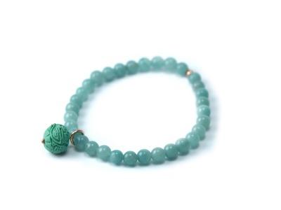GEMSTONE FLORAL/ASIA individualisierbares Armband verschiedenfarbige Jade
