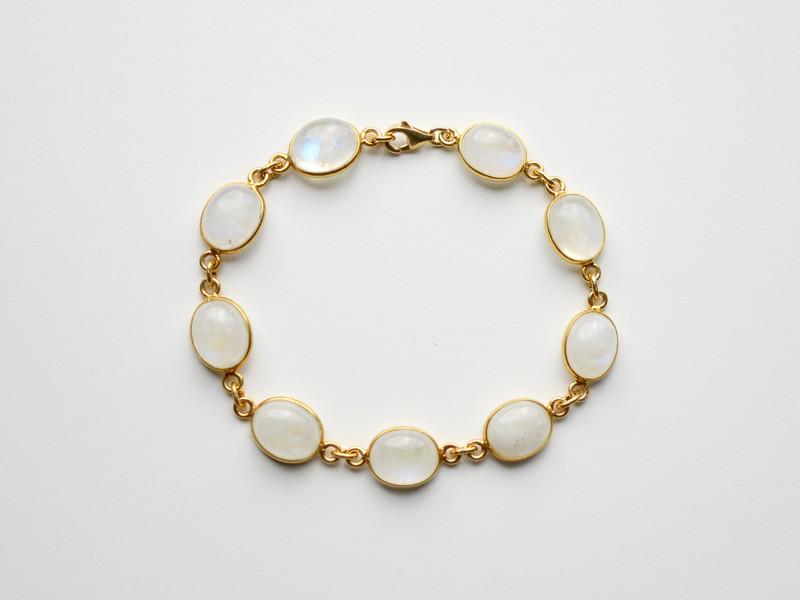 Deluxe Mondstein Armband vergoldet