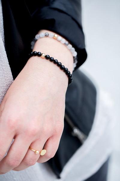 Edel Armband Schwarzer Rutilquarz vergoldet