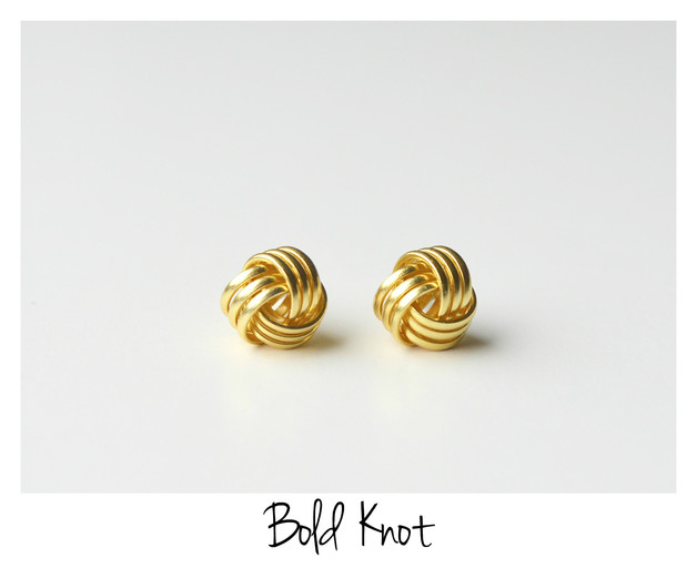 Essentials Ohrstecker Bold Knot vergoldet