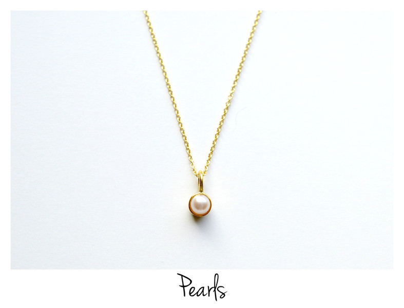So zart Tiny Pearl Kette vergoldet