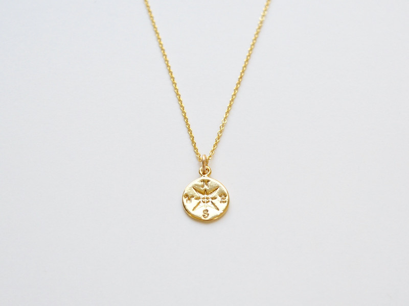 Tiny Collection Kette Kompass vergoldet