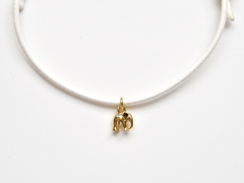 Suess Lucky Elephant Armband vergoldet