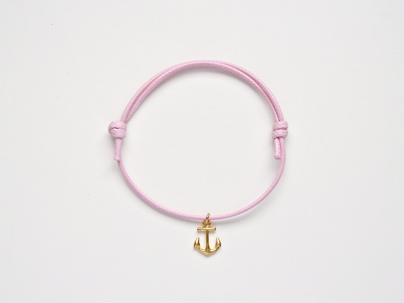 Maritim Armband Anker vergoldet