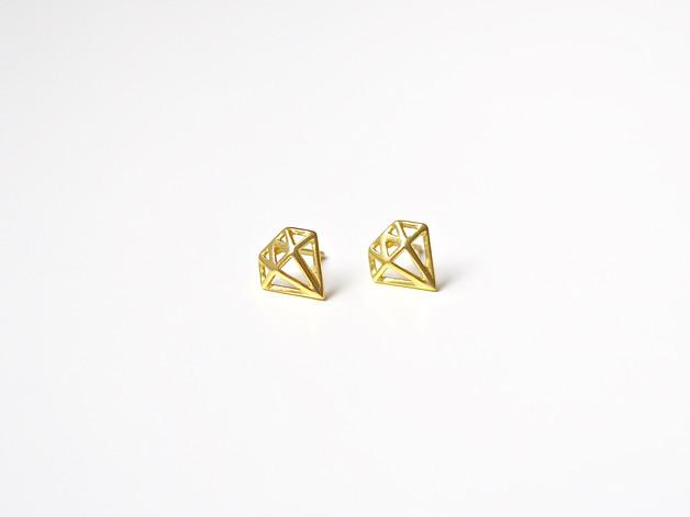 Suess Ohrstecker Diamonds vergoldet