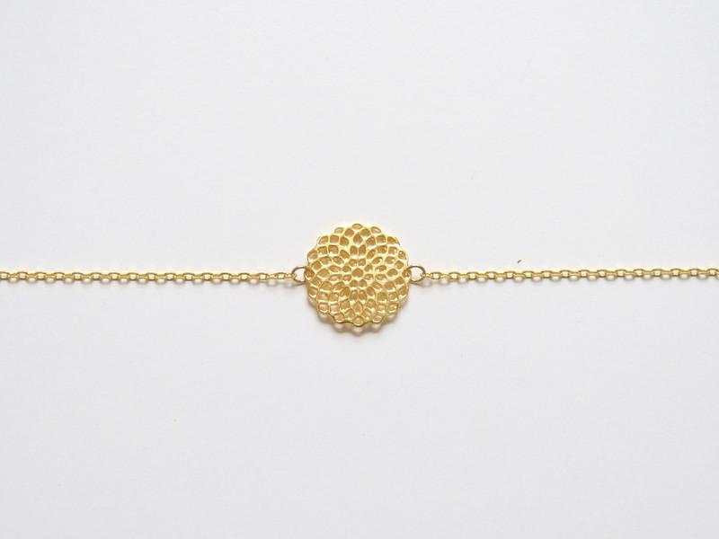 Mandala Zartes Flower Armband vergoldet