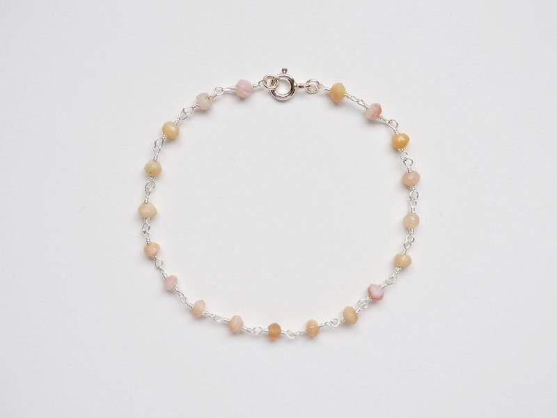 Zart Rosa Opal Armband
