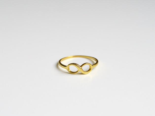 Zart Ring Infinity vergoldet