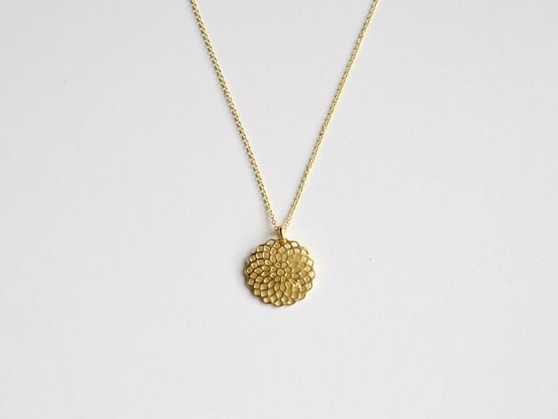 Flower Kette Mandala vergoldet