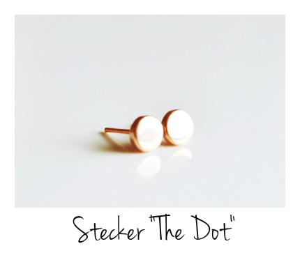 Ganz pur Ohrstecker The Dot ros vergoldet