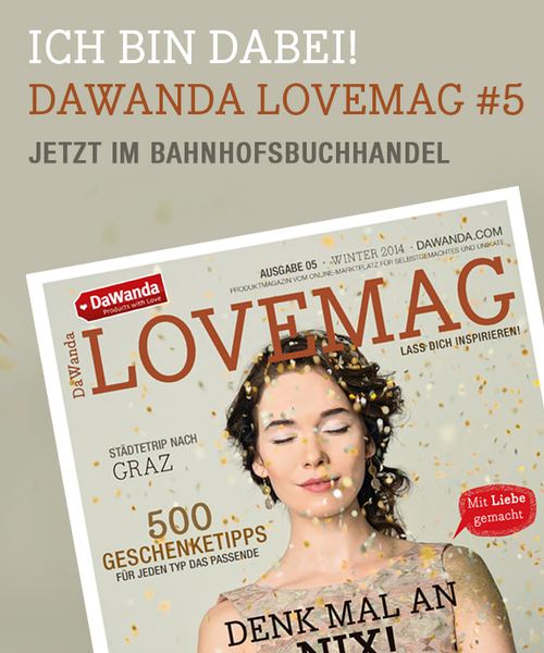 Dawanda Love Mag 5 Kette Rough Dot vergoldet