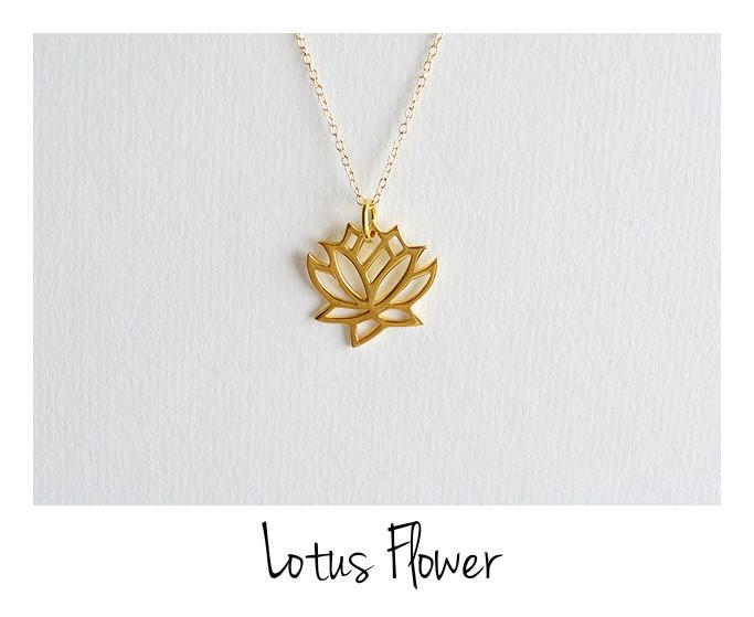 Zauberhafte Kette Lotus Flower vergoldet