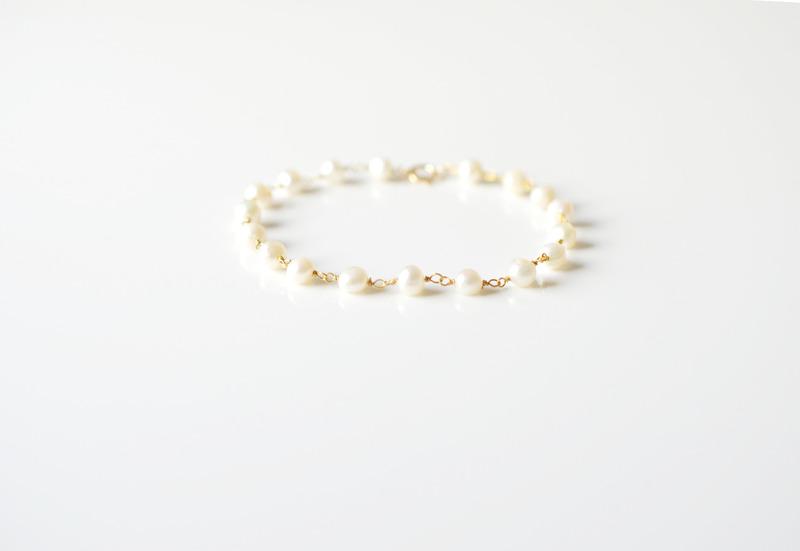 Zauberhaftes Perlen Armband vergoldet