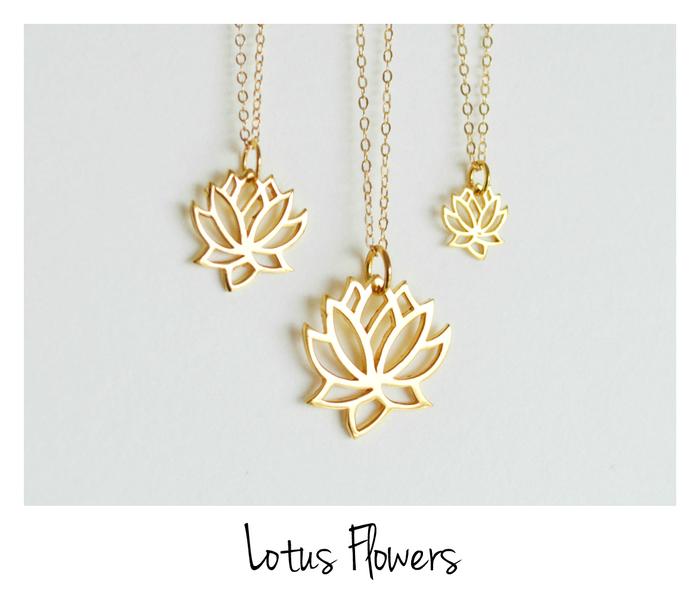 Your Choice Kette Lotus Flower vergoldet