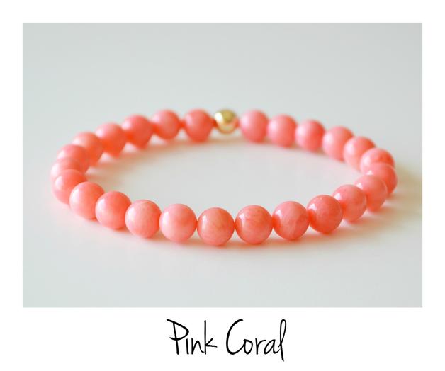 Sommerliebe Armband Pink Coral vergoldet