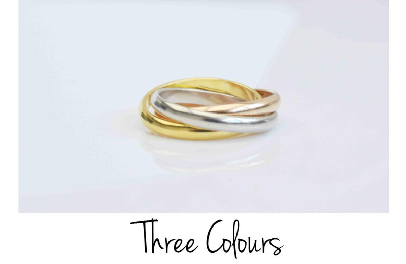 Pur Ring Endless ros vergoldet
