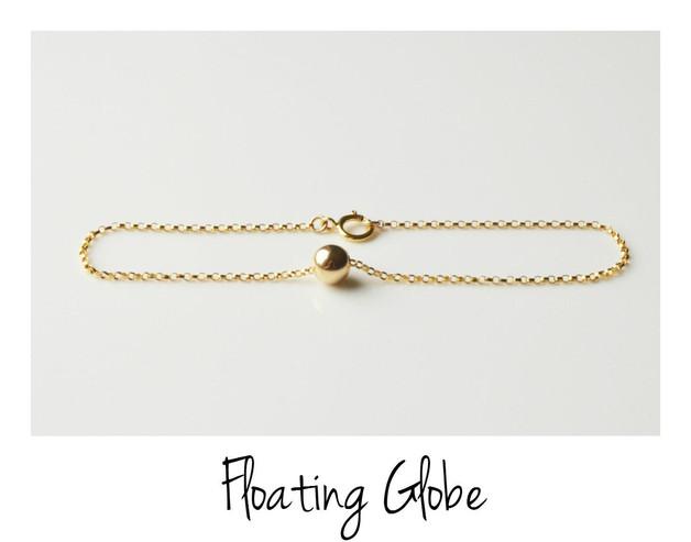 Pur Edel Armband Floating Globe vergoldet