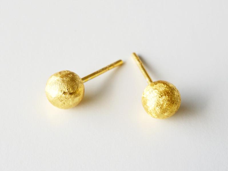 Klassiker Ohrstecker Golden Globe vergoldet 925