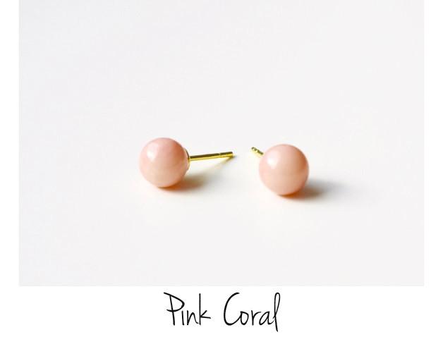 Soft Pastels Pink Coral Ohrstecker vergoldet