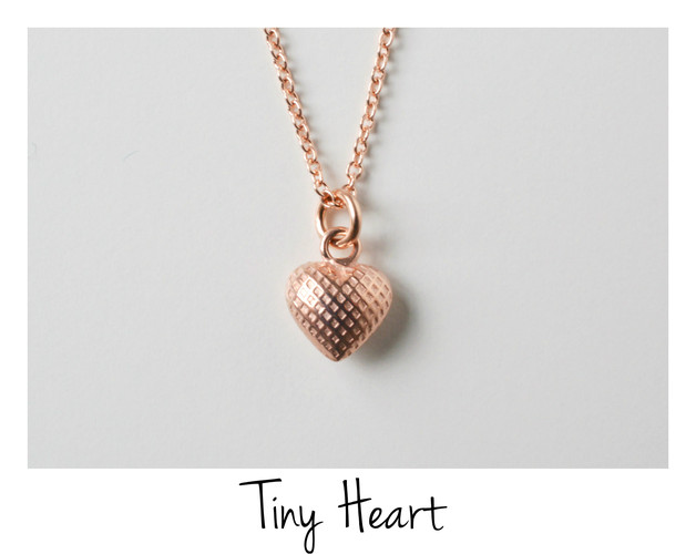 Kleines Geschenk Kette Tiny Heart ros vergoldet