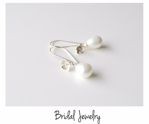 Bridal Jewelry Flowers Pearls Ohrringe
