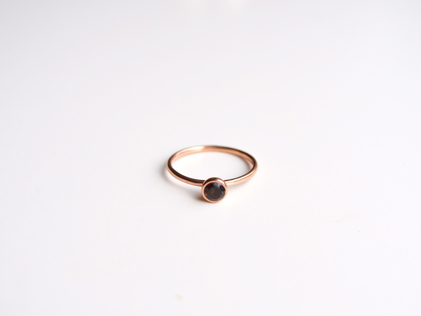 Tiny Collection Black Onyx Ring ros vergoldet