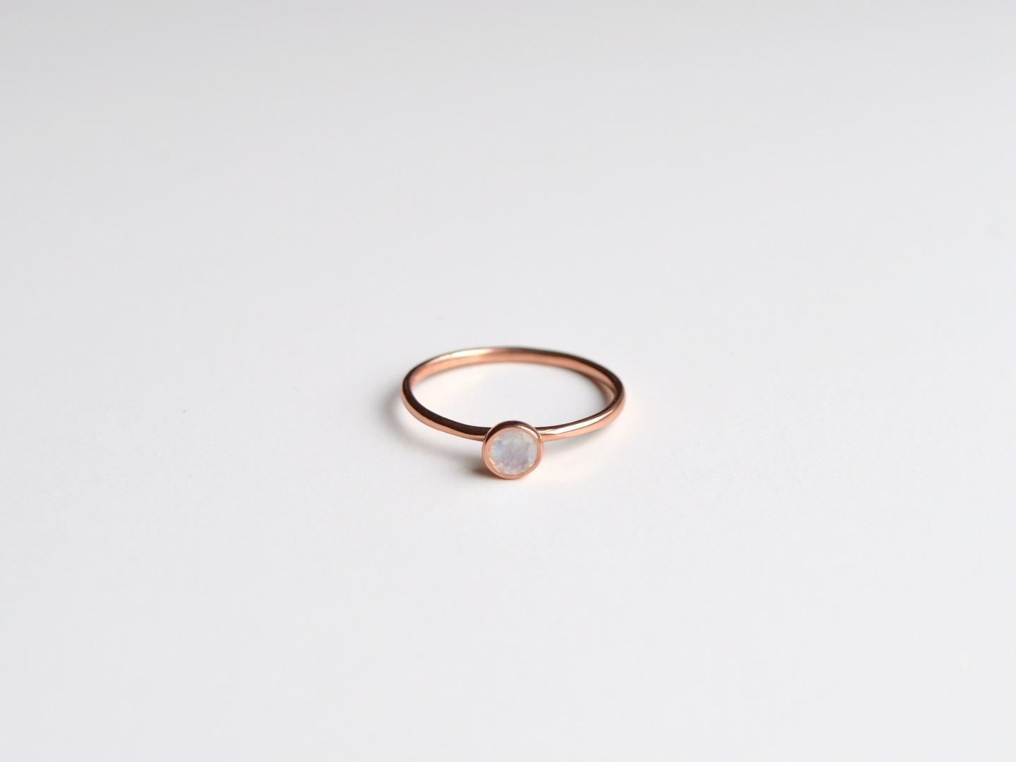 Tiny Collection Mondstein Ring ros vergoldet